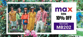 Max Fashion Promo Code: Up to 50% + Extra 10% Off on All Products Across Site